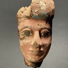 Ancient Egyptian Wooden Face Mask