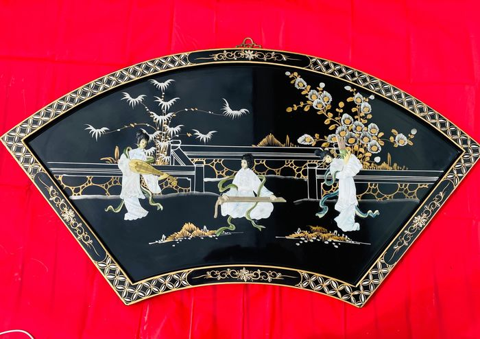 Panel - Lacquer, Mother of pearl, Wood - China - Second half 20th century