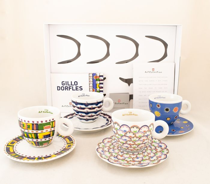 Gillo Dorfles - Illy - Cappuccino set - limited, numbered edition 99 pieces - Ceramic
