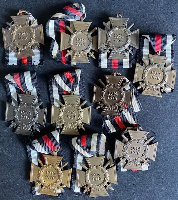 Deutsches Reich - World War 1 10 pieces - Cross of Honor for front fighters 1914-1918