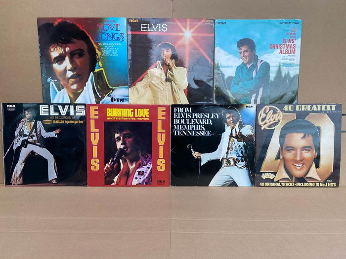 Elvis Presley - Multiple titles - 2xLP Album (double album), LP's - 1969/1983