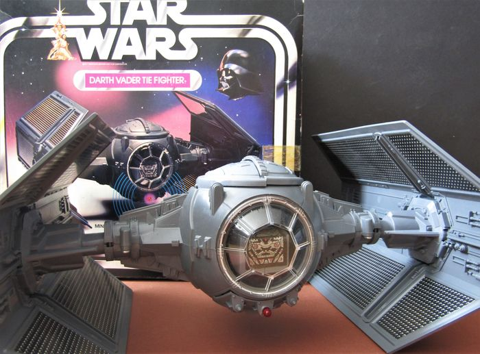 Star Wars - Episode IV; A New Hope - Palitoy - Rare Vintage 1977 Darth Vader's Tie Fighter with the original box