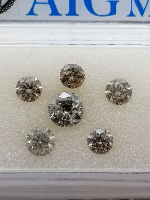 6 pcs Diamond - 1.10 ct - Brilliant - Natural fancy mix color - ***no reserve price** vvs1, vvs2, vs1, vs2, si1, si2
