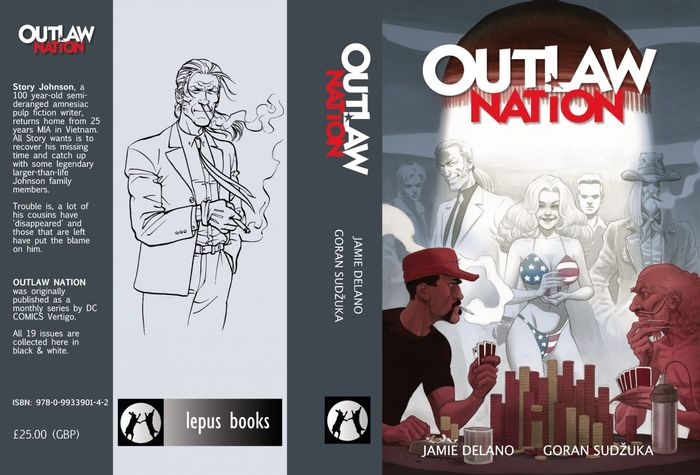 Outlaw Nation - HC - Signed by Jamie Delano & Goran Sudžuka - Hardcover - First edition