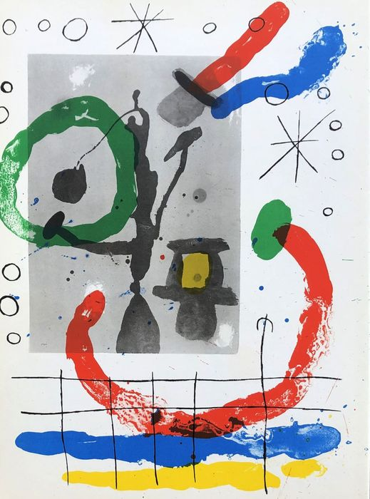 Joan Miró - Composition abstraite