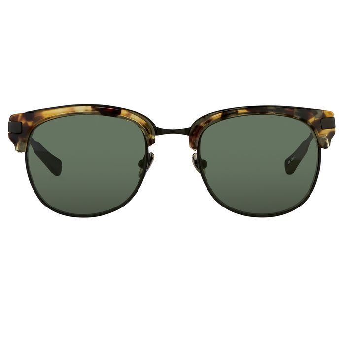 "Kris Van Assche - D-Frame Tortoiseshell Black and Green Lenses - KVA76C2SUN ""NO RESERVE PRICE"" Sunglasses"