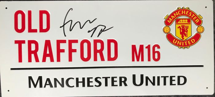 Manchester United - European Football League - Fred - Street Sign