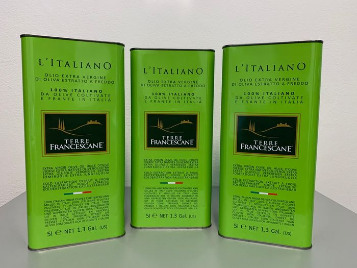 Terre Francescane - Extra virgin olive oil - 3 - Latte(5L)