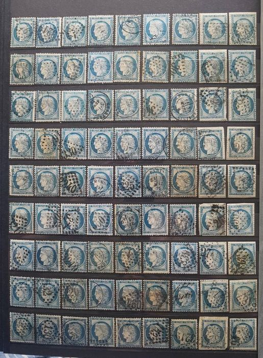 Frankrijk - Large lot of 324 No. 60 - 25 centimes Ceres - Lot No. 11.
