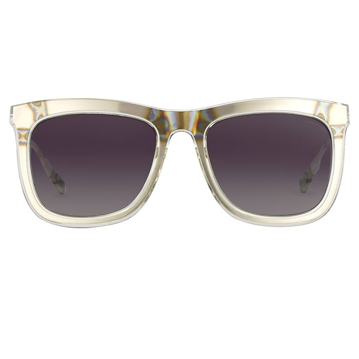 "Kris Van Assche - D-Frame Clear Silver and Green Graduated Lenses - KVA80C4SUN ""NO RESERVE PRICE"" Sunglasses"