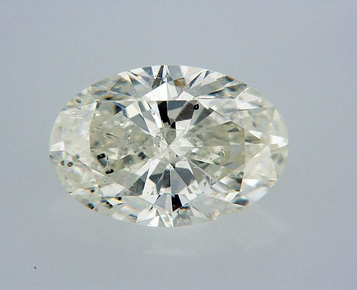 1 pcs Diamond - 1.01 ct - Oval - H - SI2