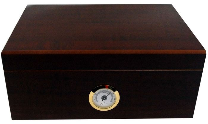 Angelo - Humidor for 50 cigar external hygrometers made of brass - 1