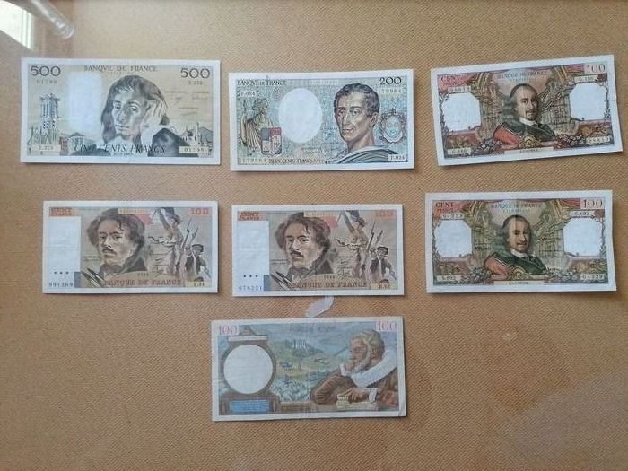 France - 16 banknotes - Various dates
