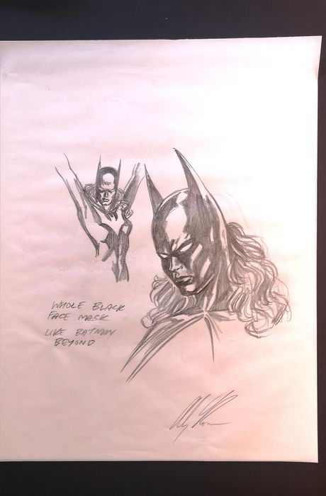Batman - Alex Ross character design Batwoman original art - EO