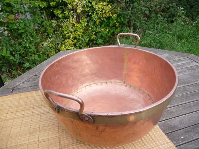 Nice heavy jam pan (3360 g) - Copper