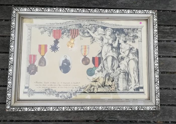 Belgium - Army/Infantry - Medal, lot of 6 Belgian army medals 1918 - 1918