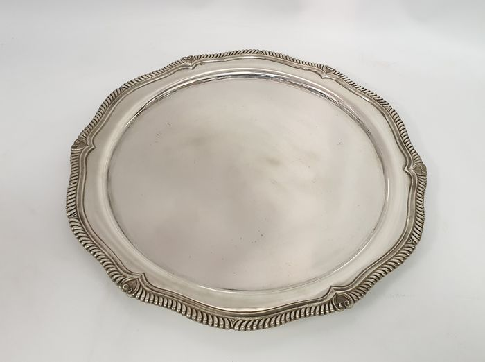 Tray - .833 silver - Portugal - Mid 20th century
