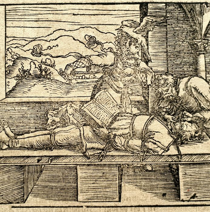 Francesco Petrarca (16th century) - On Blindness and sight - 2 woodcuts on one leaf