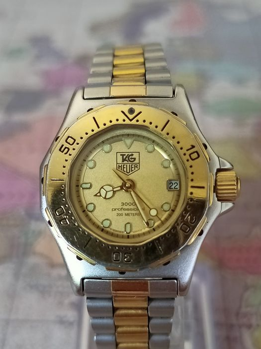 """TAG Heuer - 3000 PROFESSIONAL 200 METERS - 935.408 - """"NO RESERVE PRICE"""" - Dames - 1990-1999"""