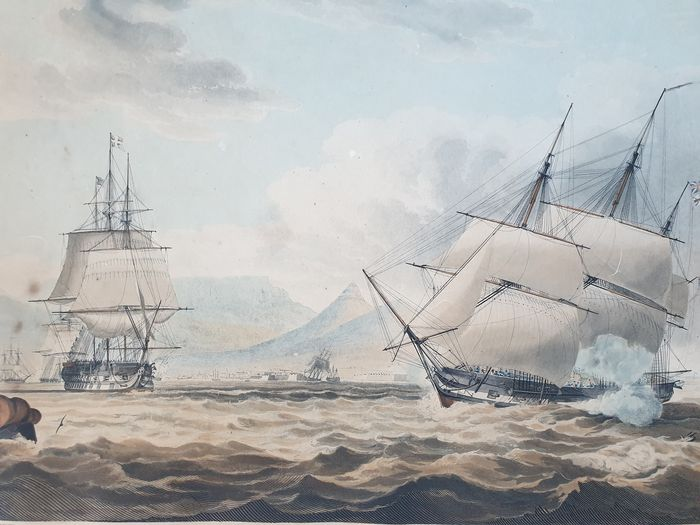 South Africa, Table Bay; Thomas Sutherland, After William John Huggins - Table Bay, Cape of Good Hope - 1821-1850