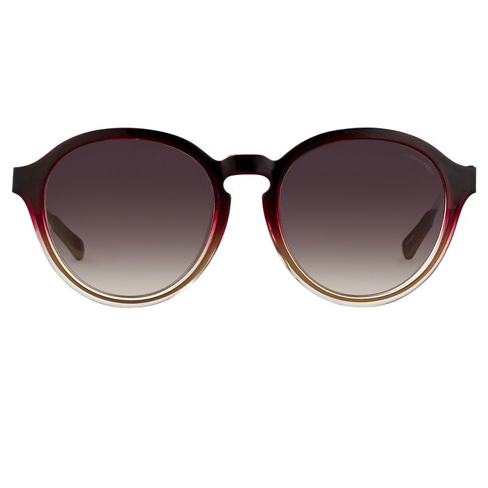 "Kris Van Assche - Oval Burgundy Clear Antique Bronze and Brown Graduated Lenses - KVA79C2SUN ""NO RESERVE PRICE"" Sunglasses"