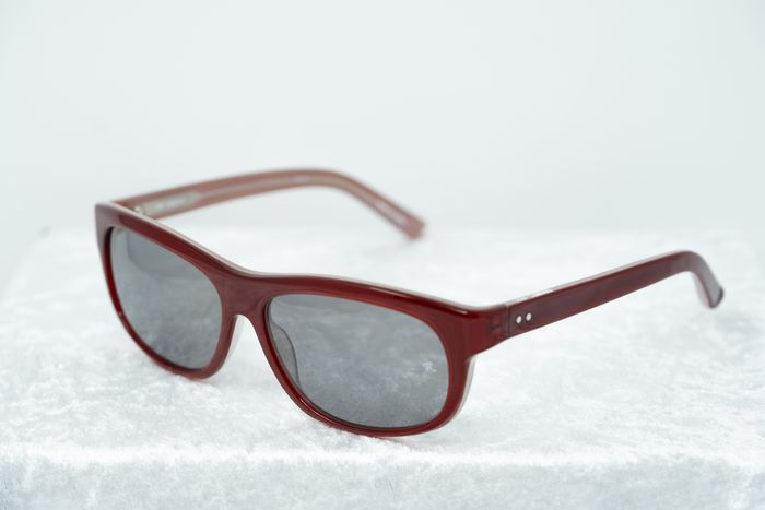 """Raf Simons - Oval Red Pearl and Grey Lenses """"NO RESERVE PRICE"""" Sunglasses"""
