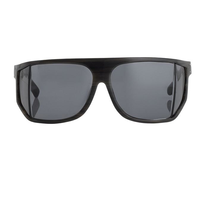 """Raf Simmons - Wraparound Angled Brown Horn and Grey Lenses """"NO RESERVE PRICE"""" Sunglasses"""