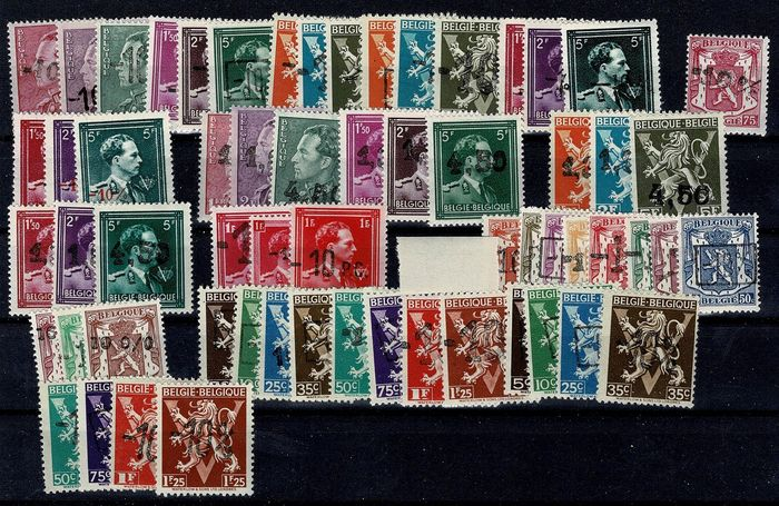 Bélgica 1946/1947 - Full years 1946 (including -10%) and 1947 - OBP / COB nrs. 724A tot 760