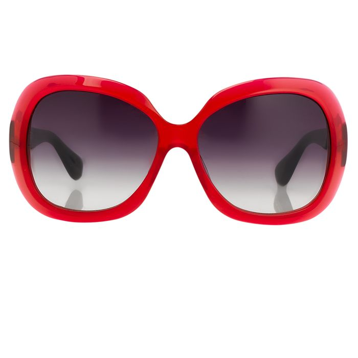 "Rue De Mail - Oversized Translucent Red with Grey Graduated Lenses RDM2C4SUN ""NO RESERVE PRICE"" Sunglasses"