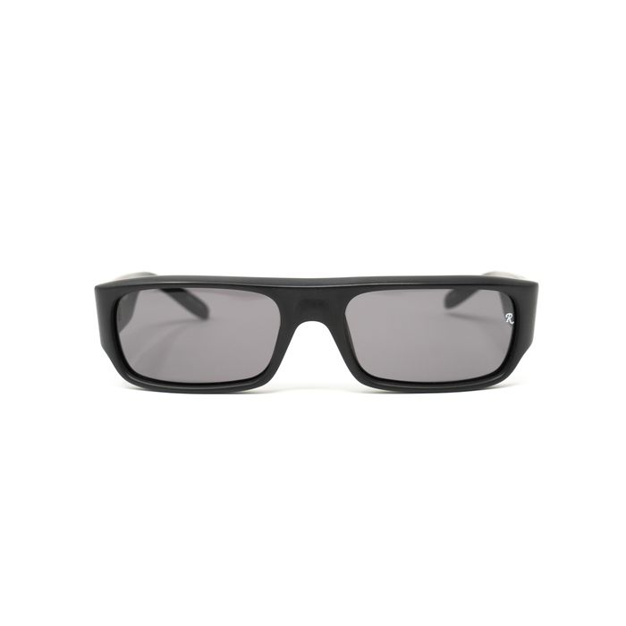 """Raf Simmons - Flat Top Matte Black and Grey Lenses """"NO RESERVE PRICE"""" Sunglasses"""