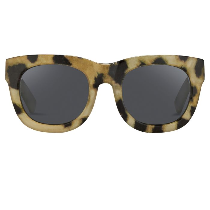 "Phillip Lim - D-Frame Cheetah Fabric and Fog Green Lenses Category 3 - PL159C1SUN ""NO RESERVE PRICE"" Sunglasses"