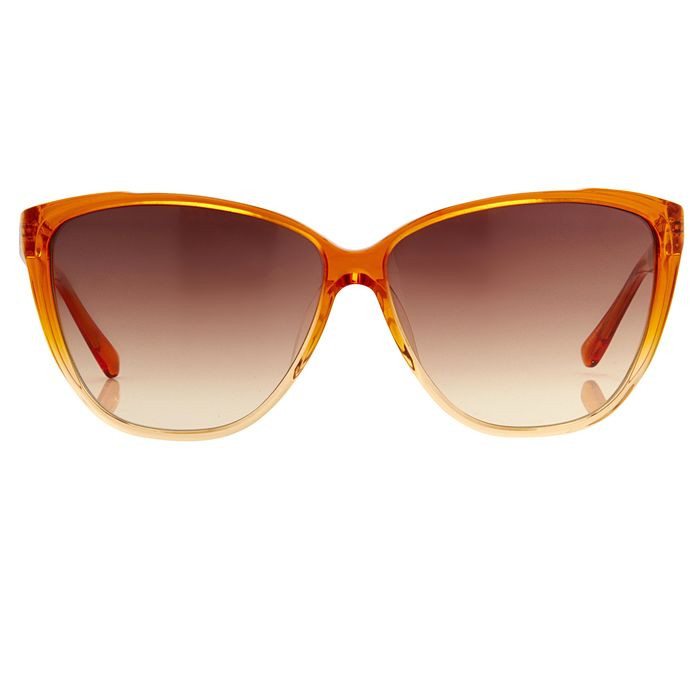 "Matthew Williamson - Cat Eye Sunset Orange with Amber Lenses MW50C2SUN ""NO RESERVE PRICE"" Sunglasses"