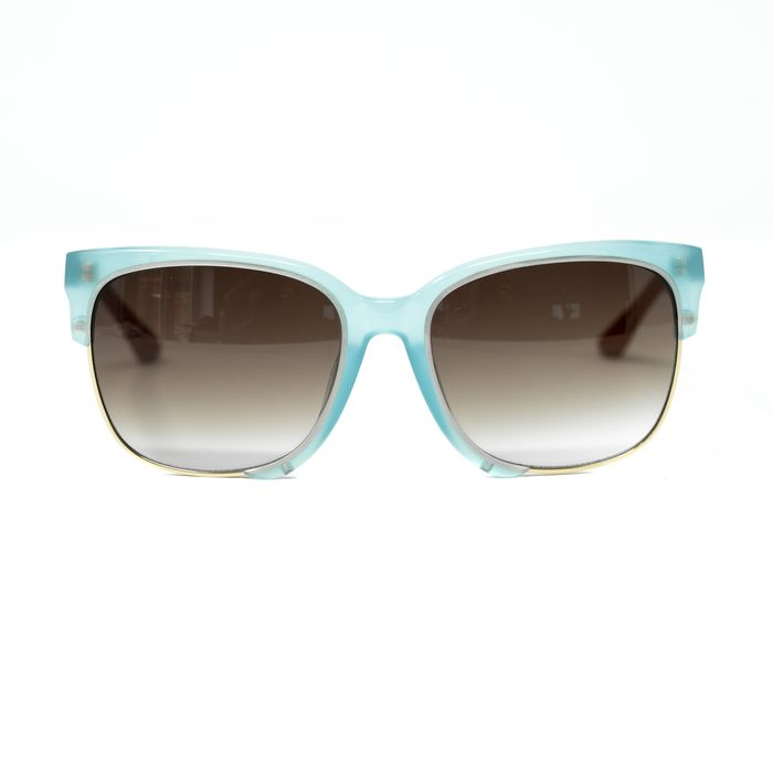 """Orlebar Brown - D-Frame Blue and Gold with Grey Brown Lenses """"NO RESERVE PRICE"""" Sunglasses"""