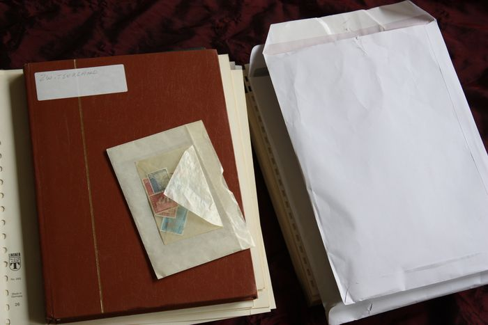 Switzerland - Sort-out batch in stock books, on album pages and in envelopes