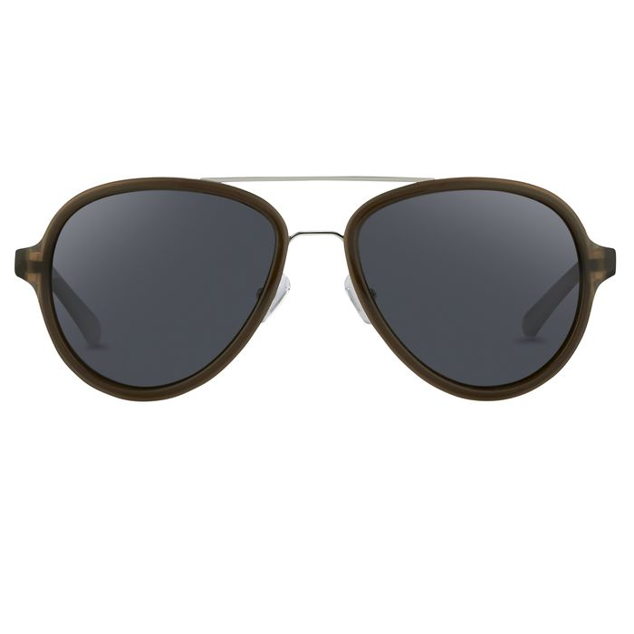 """Phillip Lim - Aviator Brown Silver and Fog Green Lenses Category 3 - PL16C32SUN """"NO RESERVE PRICE"""" Sunglasses"""
