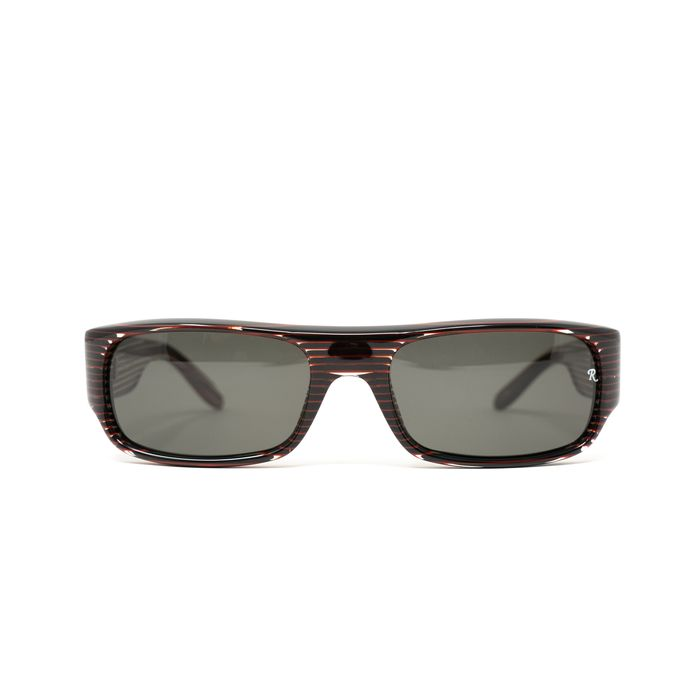 """Raf Simmons - Flat Top Black Red Stripes and Grey Lenses """"NO RESERVE PRICE"""" Sunglasses"""