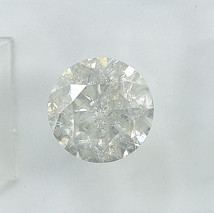 Diamond - 1.50 ct - Brilliant - J - I2 - NO RESERVE PRICE