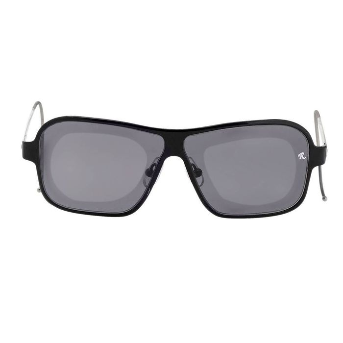 "Raf Simmons - Rectangular Black and Grey Lenses ""NO RESERVE PRICE"" Sunglasses"