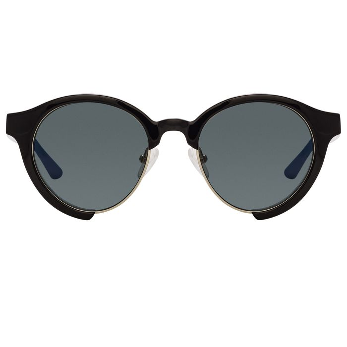 """Orlebar Brown - Oval Black with Grey Lenses Category 3 OB47C1SUN """"NO RESERVE PRICE"""" Sunglasses"""