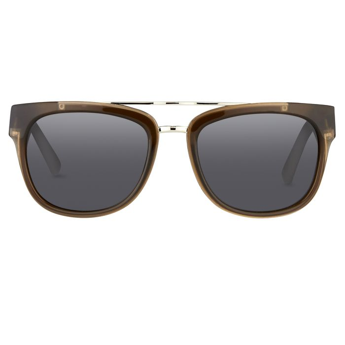 """Phillip Lim - Rectangular Brown Silver and Fog Green Lenses Category 3 - PL144C5SUN """"NO RESERVE PRICE"""" Sunglasses"""