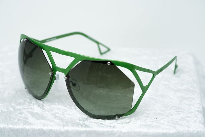 "Raf Simons - Shield Green and Green Lenses Category 3 ""NO RESERVE PRICE"" Sunglasses"