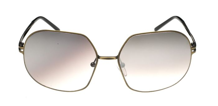 """Chaiken - Oversized Jackie-O Gold with Gold Mirror Lenses 8CH3C2GOLD """"NO RESERVE PRICE"""" Sunglasses"""