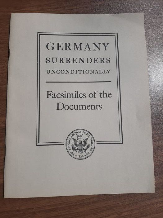 Germany - official Facsimiles of Germany Unconditional Surrender Documents - Donitz - 1945