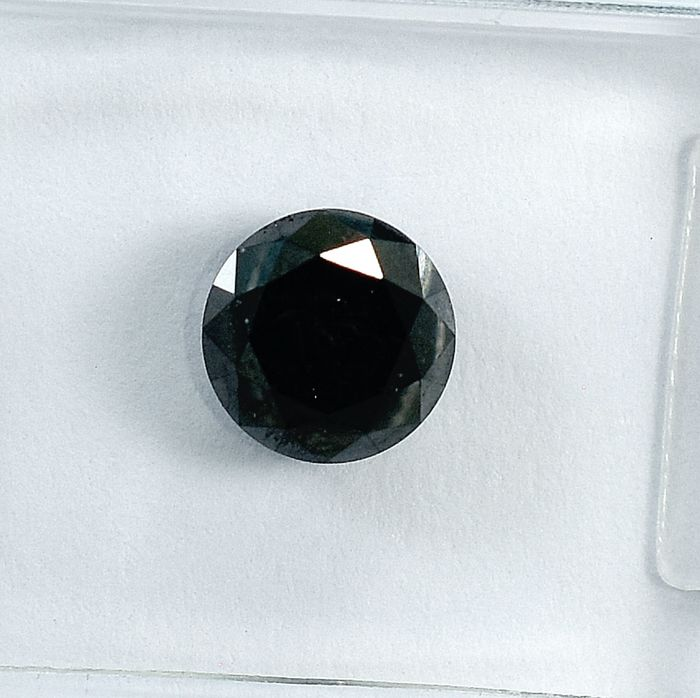 Diamond - 1.03 ct - Brilliant - Black - NO RESERVE PRICE