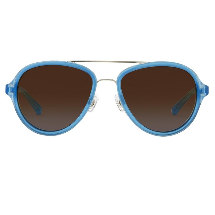 """Phillip Lim - Aviator Turquoise Brushed Silver and Brown Lenses Category 3 - PL16C27SUN """"NO RESERVE PRICE"""" Sunglasses"""