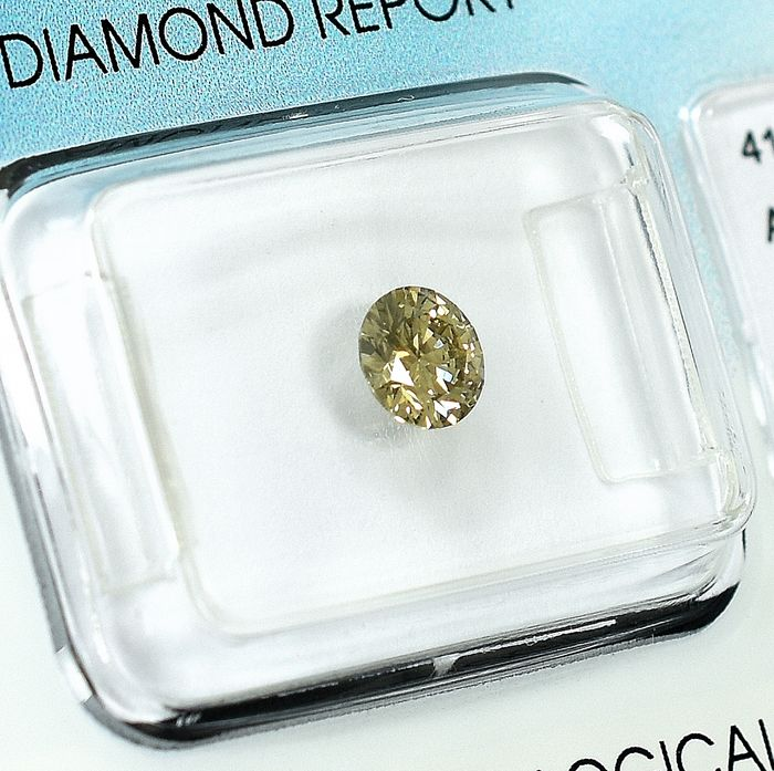 Diamond - 0.50 ct - Brilliant - Natural Fancy Light Yellowish Brown - VS2