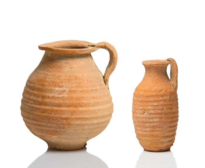 Ancient Roman Terracotta Palestinian Holy Pottery Group - 8.6×8×8 cm - (3)
