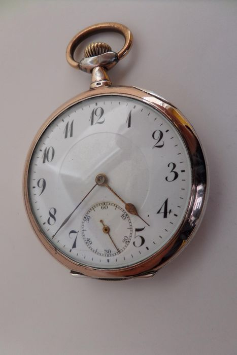 Ancre - silver pocket watch NO RESERVE PRICE - Homem - 1901-1949