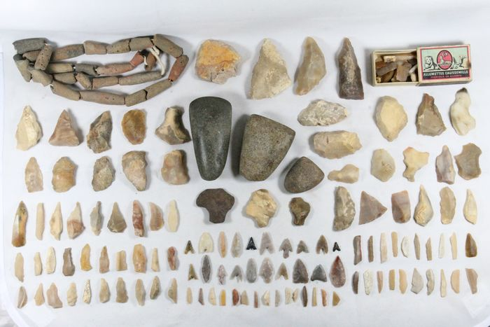 Prehistoric, Neolithic various huge artifacts collection, top condition - (170)