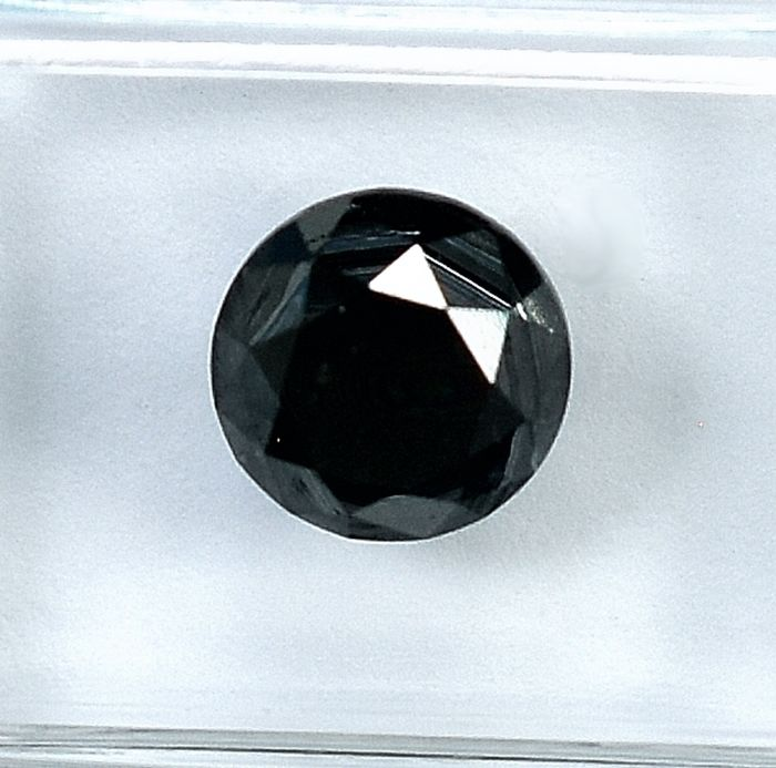 Diamond - 1.85 ct - Brilliant - Black - NO RESERVE PRICE Treated Colour